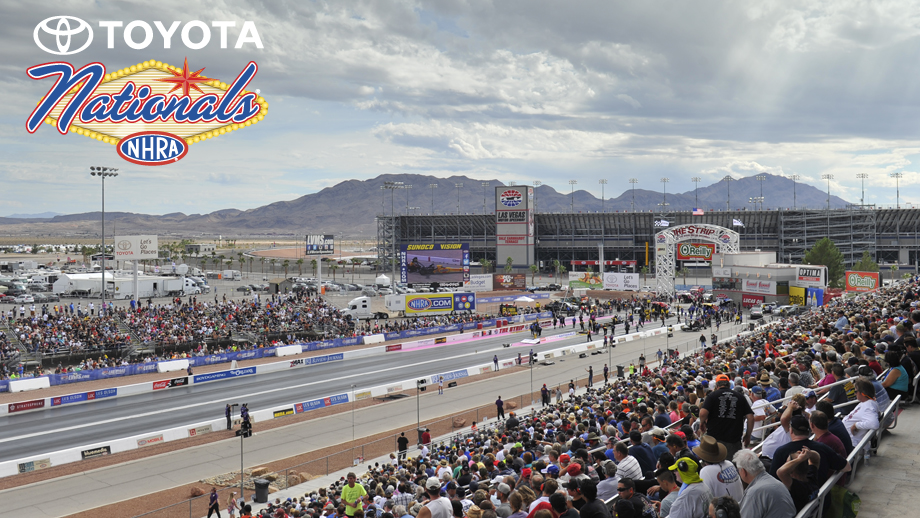 nhra toyota nationals Event Info As the next-to-last event that will decide the season's NHRA Mello Yello world championships, plenty is at stake in Las Vegas at this event.
