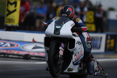 PRO STOCK MOTORCYCLE Q1 (3 04 p.m.)  The fastest rider on the planet was  also the quickest through one session at the Virginia NHRA Nationals. 9ee69654a33a