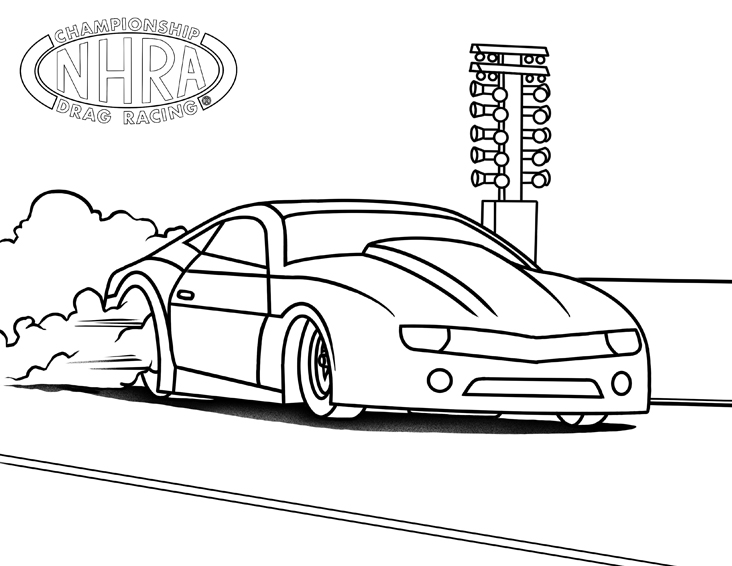 Color Our World! Downloadable Racing Images For Your Kids To Color NHRA