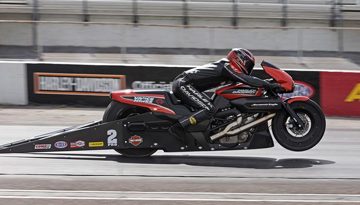 New Harley Davidson Street Rod Drag Bikes Ready To Race At