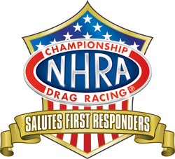 NHRA Salutes First Responders logo