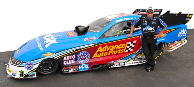 Force To Race Advance Auto Parts Peak Funny Car In Houston Nhra