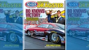 Bo Butner on National Dragster cover