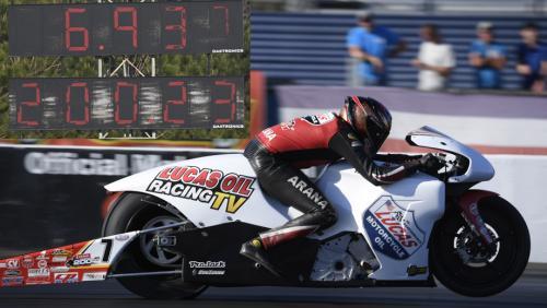 Arana Jr  cracks open Denso 200-mph Pro Stock Motorcycle Club   NHRA