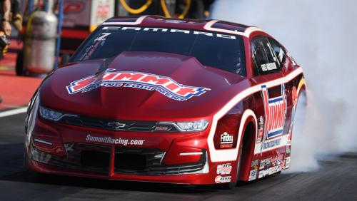 Greg Anderson and his Summit Racing Chevy Camaro ended