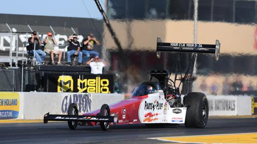 Clay Millican secures provisional Top Fuel pole at NHRA