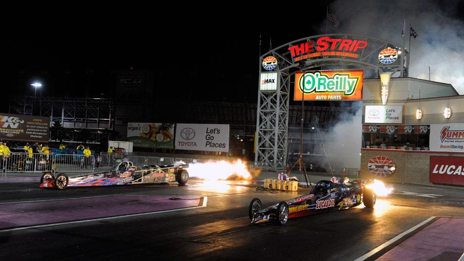 Jet cars at The Strip at Las Vegas Motor Speedway