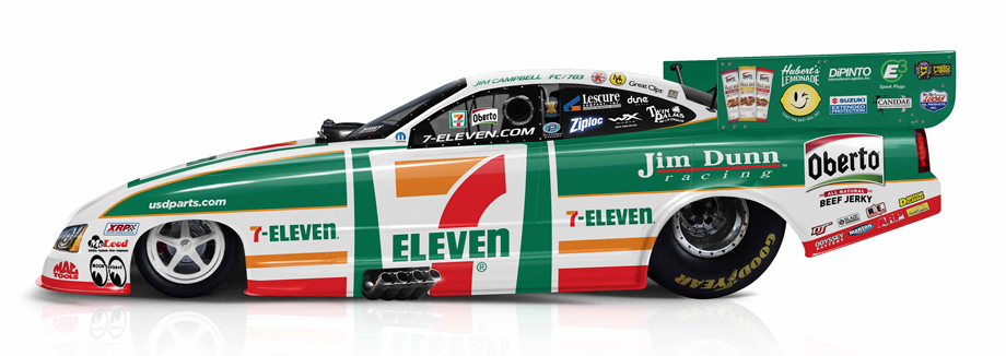7 Eleven And Oberto Beef Jerky Funny Car To Debut In