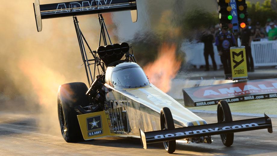 Top Fuel low qualifier Tony Schumacher