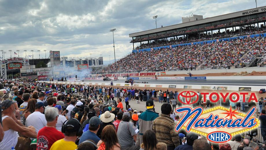Toyota signs extension of sponsorship for nhra toyota for Las vegas motor speedway drag strip
