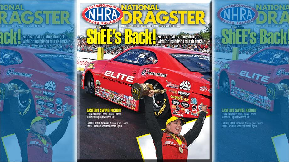 Erica Enders on National Dragster cover