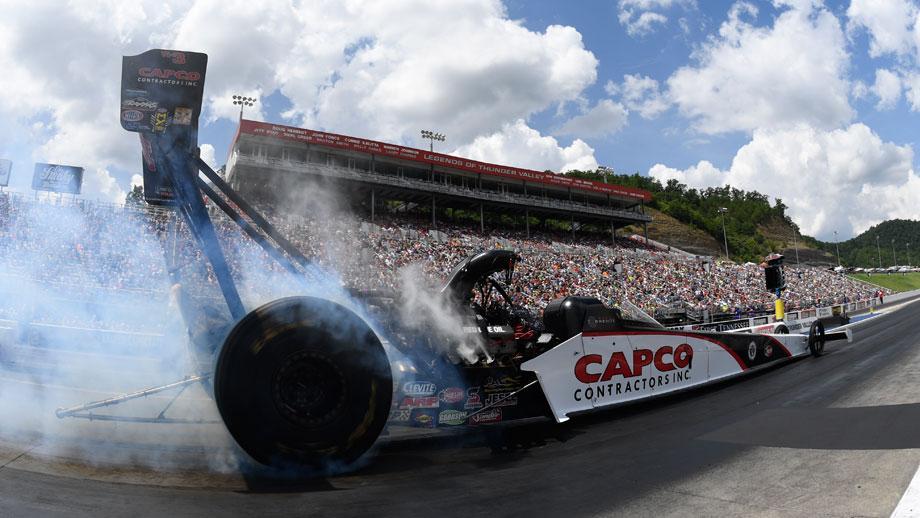 Top Fuel low qualifier Steve Torrence