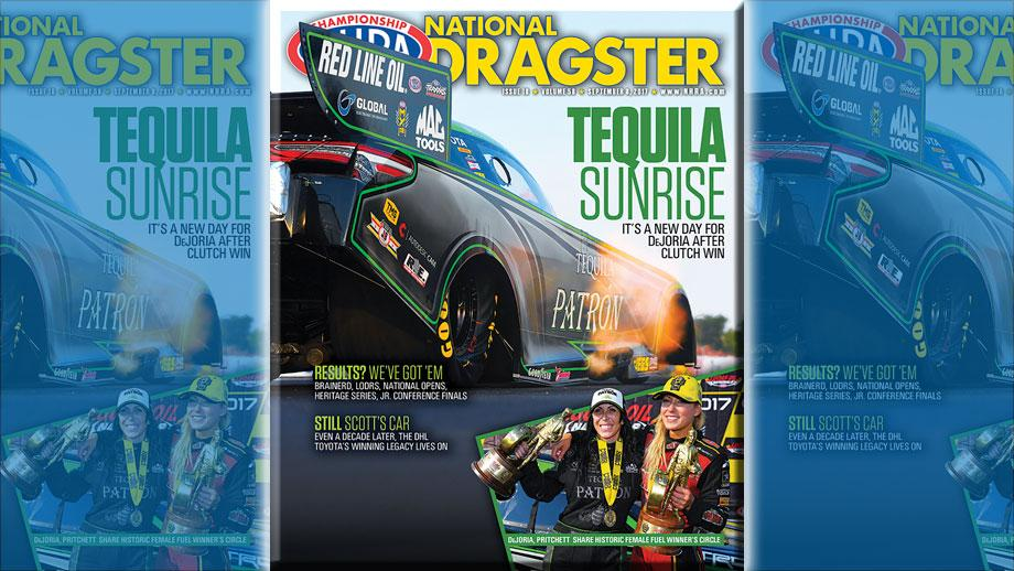 Alexis DeJoria on National Dragster cover