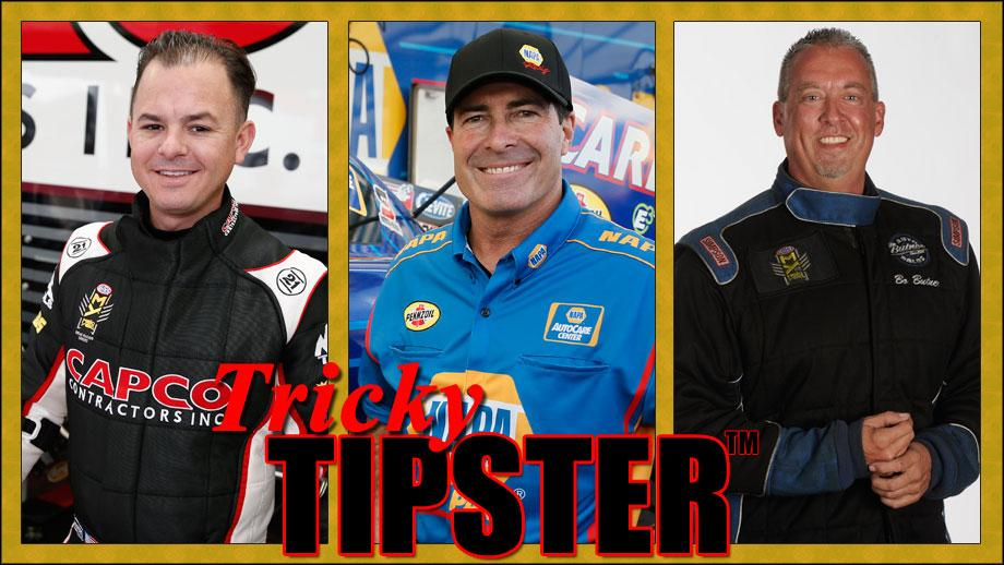 Steve Torrence, Ron Capps, and Bo Butner