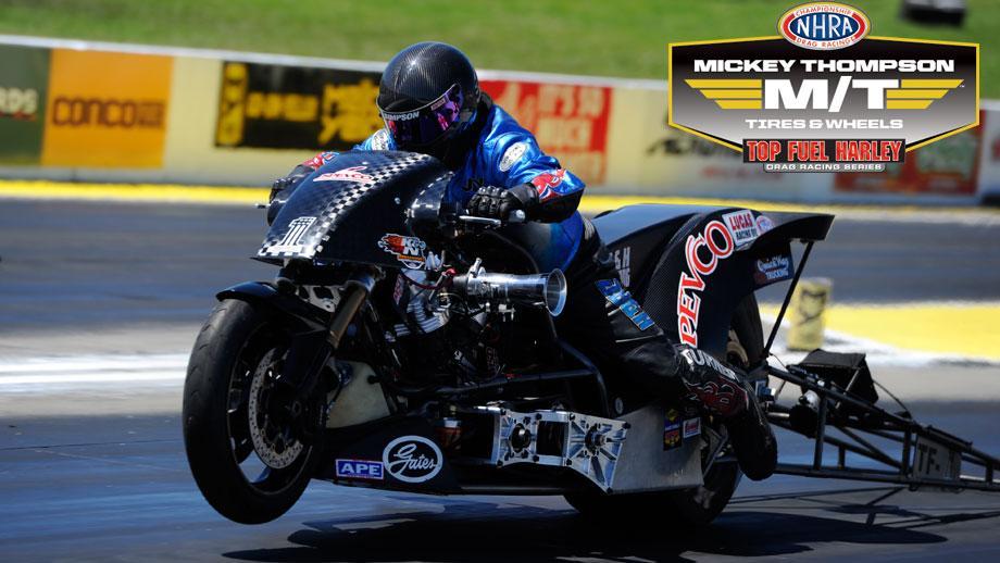 mickey thompson tires top fuel harley drag racing series