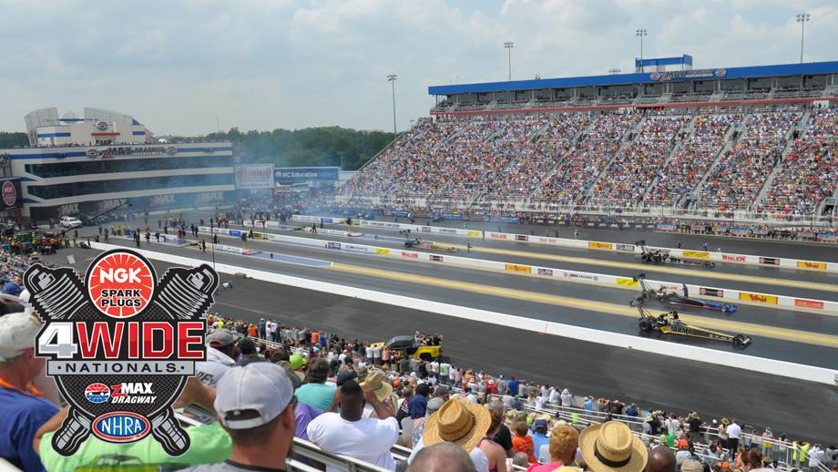 The Gest Spectacle In Drag Racing Turns 10 Years Old 2019 As Nhra Mello Yello Series Four Wide Returns To Zmax Dragway For