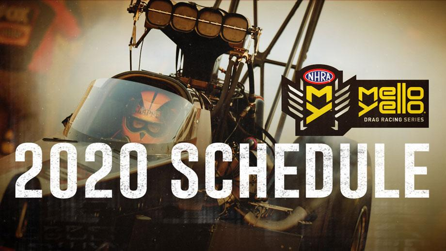 Calendrier Des Series 2020.Nhra Releases 24 Race Mello Yello Drag Racing Series
