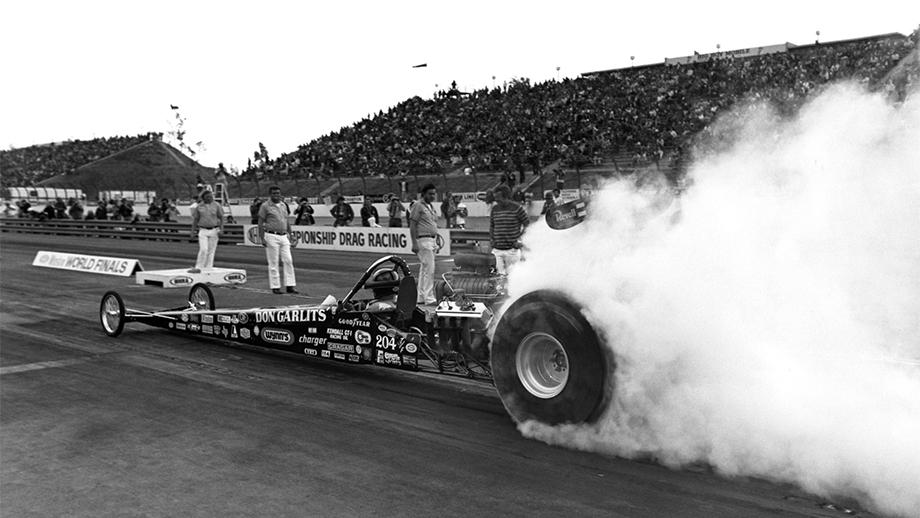 """Big Daddy"" Don Garlits enjoyed one of the greatest weekends of his career at the 1975 Winston World Finals."
