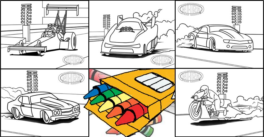 - Color Our World! Downloadable Racing Images For Your Kids To Color NHRA