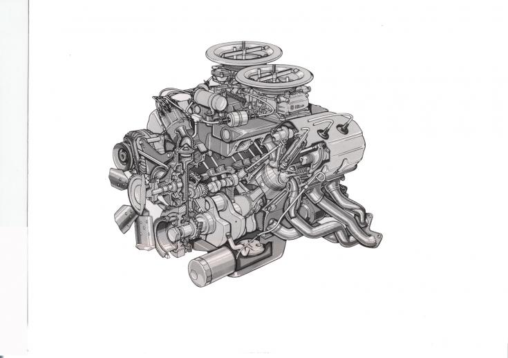 426 Hemi Drag engine for NHRA