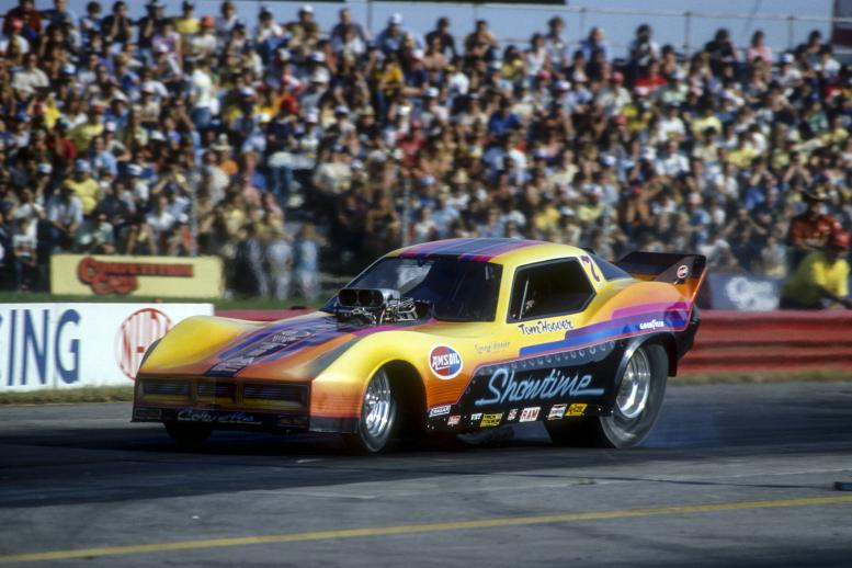 The Hoover family out of Minnesota started in Top Fuel but later fielded some of the prettiest Funny Cars of the late 1970s and early 1980s, emblazoned with the Showtime moniker of its sides. Tom Hoover and his octogenarian father/crew chief George won a slew of NHRA national event titles.