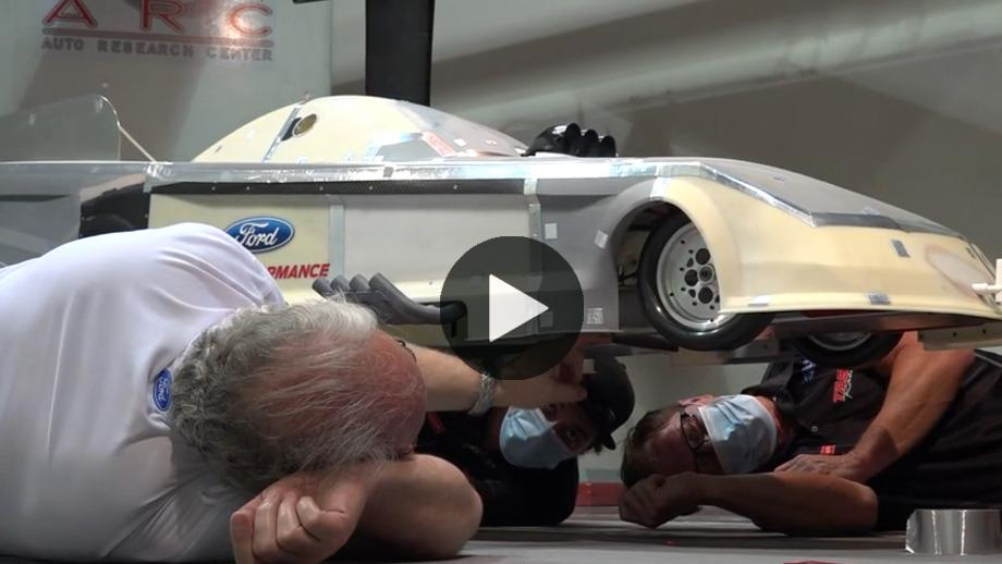 Wind-tunnel testing with Bob Tasca III`s one-third scale...