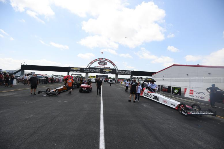 NHRA's nitro teams returned to Lucas Oil Raceway at Indianapolis for the second straight weekend