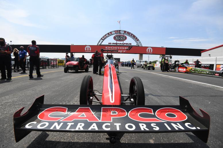 Reigning Top Fuel champ Steve Torrence was one of the stars of the fifth race of the 2020 NHRA season