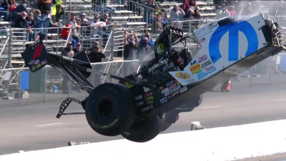 Leah Pruett Top Fuel Crash