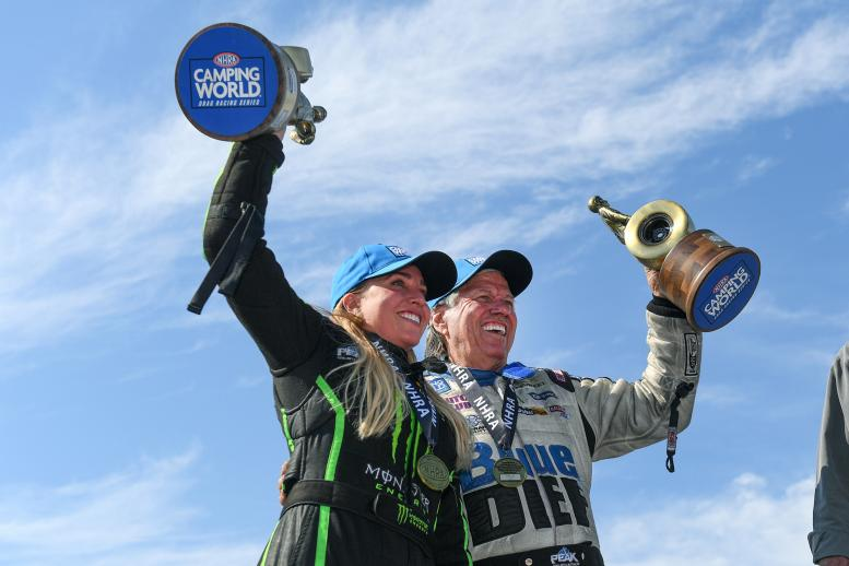Brittany and John Force
