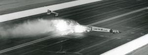 Kenny Bernstein crashes at the 1993 Winternationals
