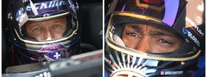 In-car footage of Jack Beckman and Antron Brown