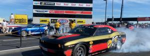 Leah Pruett Dodge Drag Pak Challenger at the 2020 U.S. NHRA Nationals