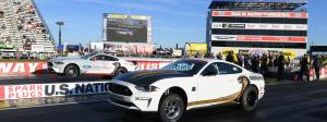 Ford Mustang Cobra Jet match race Gas vs. Electric at NHRA U.S. Nationals
