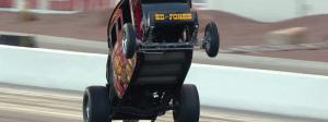 "Ed ""The Outlaw"" Jones Stagecoach wheelstander put on a show at the Dodge NHRA Finals"