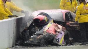 Big fire for Pro Mod driver Dan Stevenson in Gainesville