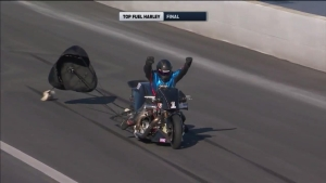 Jay Turner wins Top Fuel Harley class at the Circle K NHRA Winternationals