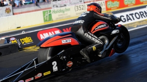 Harley Davidson rider Eddie Krawiec takes the top spot Friday in qualifying at Gainesville