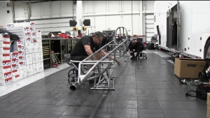 Encyclospeedia:  Preparing a Top Fuel chassis