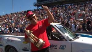 Amalie Motor Oil NHRA Gatornationals Super Stock winner Fred Allen