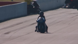 Andrea Rawlings makes a huge save on this WILD Pro Stock Motorcycle ride