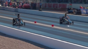 Denso Spark Plugs NHRA Nationals Top Dragster winner Chuck Phelps