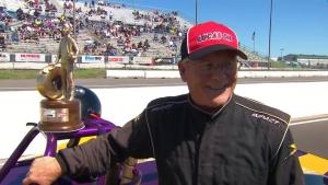 Menards NHRA Heartland Nationals Super Gas winner Roger Warren