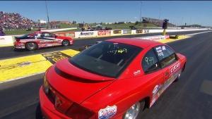 Menards NHRA Heartland Nationals Super Stock winner Jason DeForrest