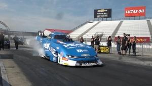 John Force Tests at Indy