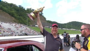 NHRA Thunder Valley Nationals Super Stock winner Marty Rinehart Jr.