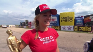 Fallen Patriots NHRA Route 66 Nationals Top Alcohol Dragster winner Megan Meyer