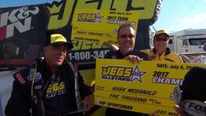 JEGS Allstars Top Sportsman winner Mark McDonald