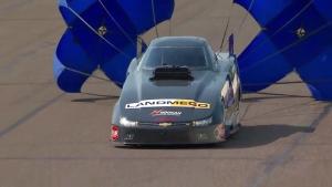 Lucas Oil NHRA Nationals Top Alcohol Funny Car winner Johan Lindberg