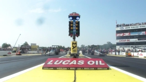 Lucas Oil NHRA Nationals Top Alcohol Dragster winner Justin Ashley
